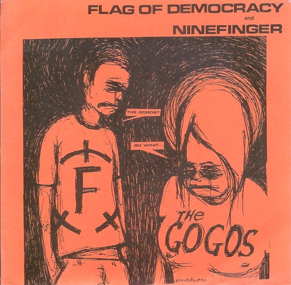 Flag Of Democracy, Ninefinger - Head Over Heels / In The Black - 1993