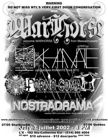 Khanate - Live Montreal - 2002
