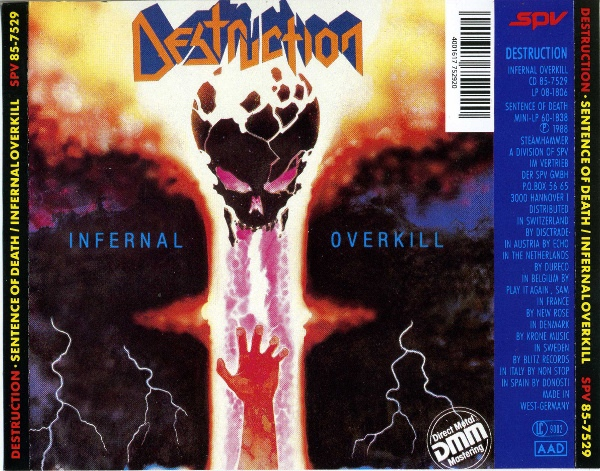 Destruction - Sentence Of Death / Infernal Overkill - 1985