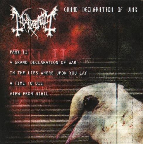 Mayhem - Grand Declaration Of War 2000