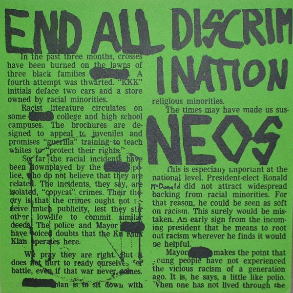 Neos - End All Discrimination 1981