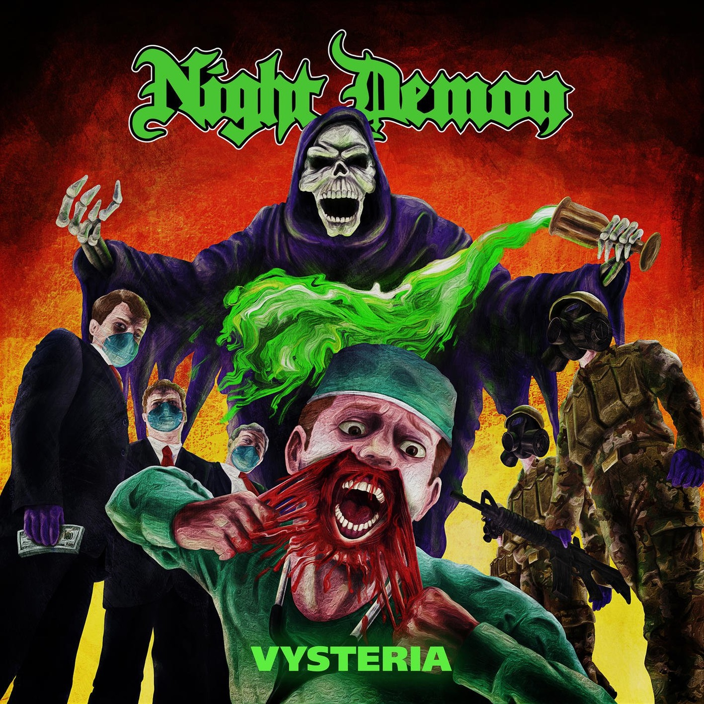 Night Demon - Vysteria EP - 2020