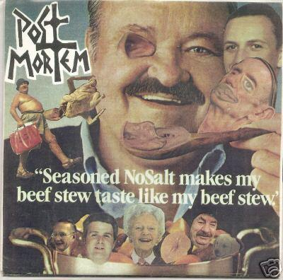Post Mortem - Seasoned Nosalt Makes My Beef Stew Taste Like My Beef Stew 7'' 1990