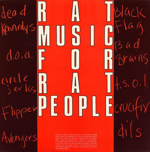 Various Artists - Rat Music For Rat People Vol. 1 1982