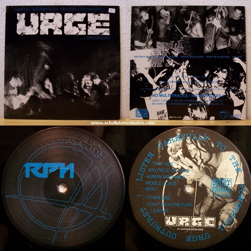 Urge - Listen Carfeully To The Powerful Urge Outburst 1990