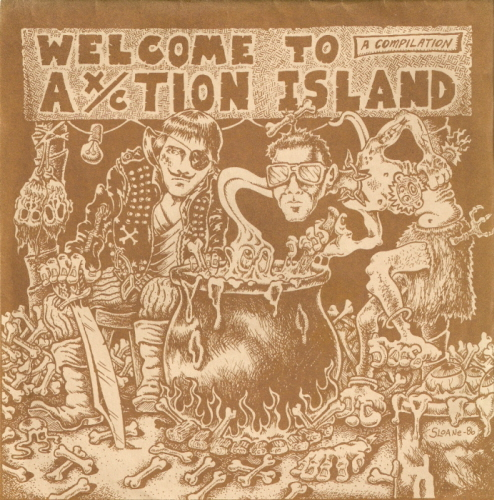 Various Artists - Welcome To Ax-Ction Island 7'' 1986