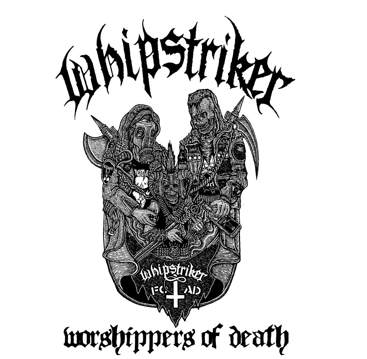 Whipstriker, Skull And Bullets - Attitude Punks Will Wail / Worshippers Of Death - 2012