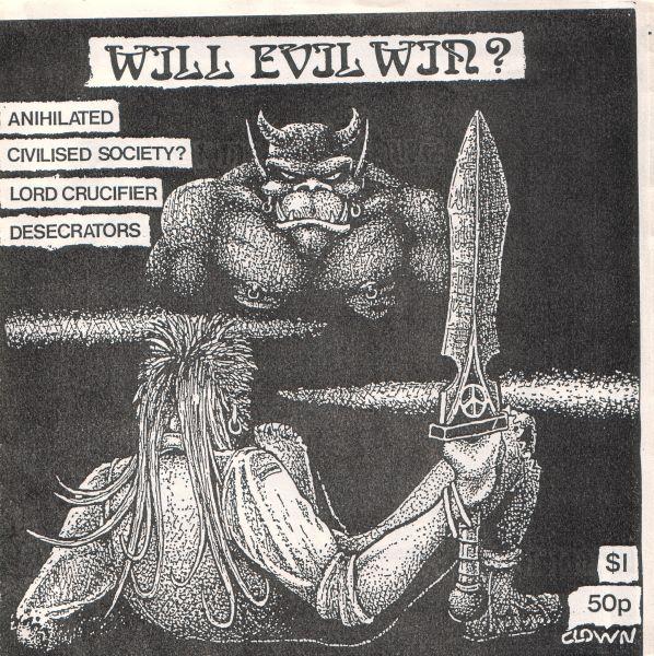 Various Artists - Will Evil Win Flexi 7'' 1987
